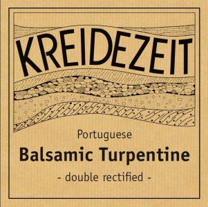 Kreidezeit Balsamic Turpentine label