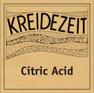 Kreidezeit Citric Acid label