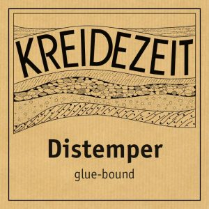 Kreidezeit Distemper label