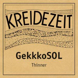 Kreidezeit GekkkoSOL Thinner label