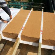 As access is restricted below the joists we have to lay the Siga roll to reduce air changes from above.