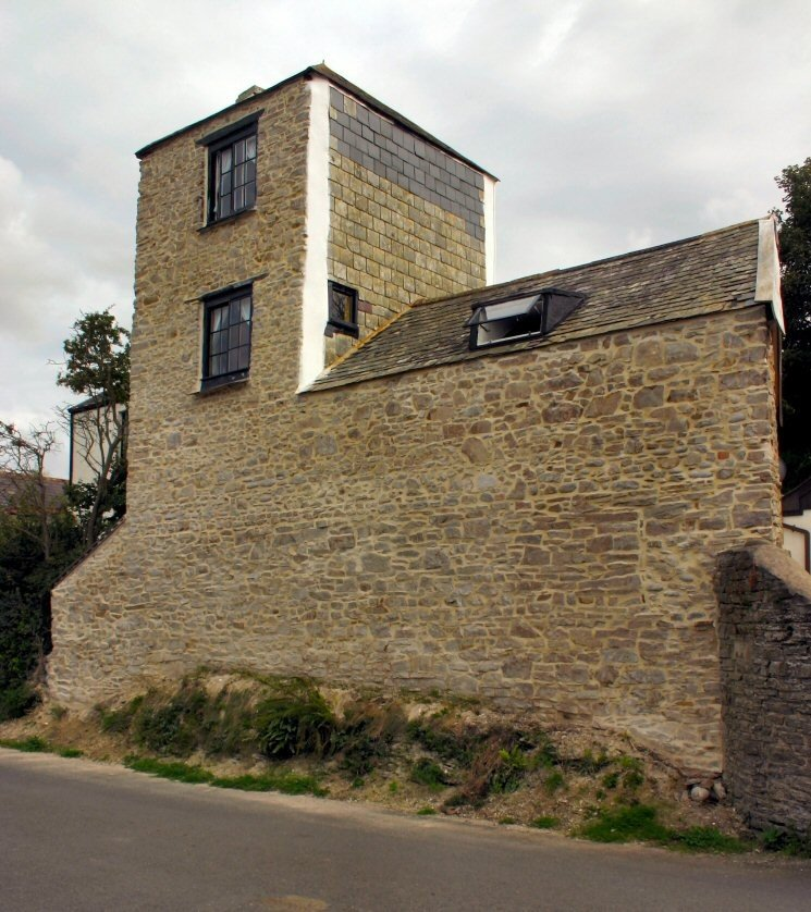 North Devon Stone house repointed in lime putty mortar by Mike Wye & Associates ltd