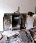 revealing the original inglenook fireplace