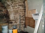 Dobcross Church repair. Riven chestnut lath in situ