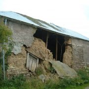Devon Cob barn collapsed wall