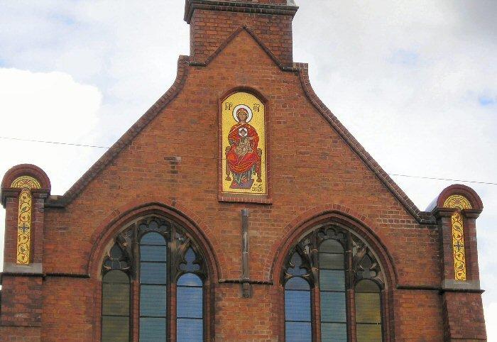 Greek church traditional mosaic